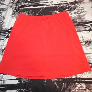 Adidas Small Womens Skort Club Tennis Red Shorts